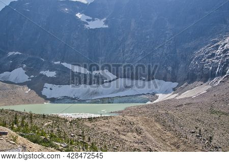 A View Of The Cavell Pond.   Jasper Ab Canada