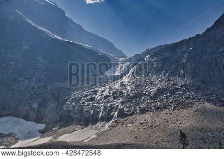 A View Of Angel Glacier On Mt. Edith Cavell.   Jasper Ab Canada
