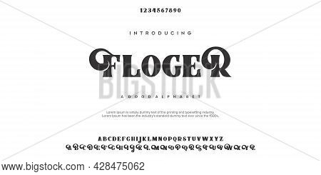 Abstract Fashion Font Alphabet. Minimal Modern Urban Fonts For Logo, Brand Etc. Typography Typeface