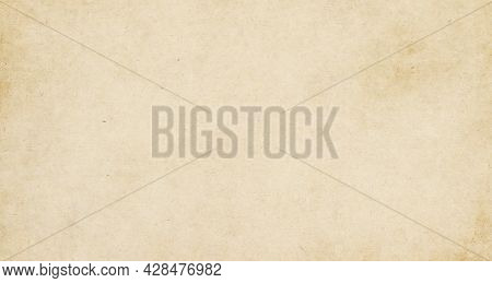 Vintage Old Brown Paper Texture Background, Kraft Paper Horizontal With Unique Design Of Paper, Soft