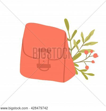 Reusable Lunchbox. Sustainable Kitchen And Zero Waste Lifestyle. Eco Living Concept. Vector Cartoon