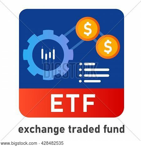 Etf Exchange Traded Fund Icon Investor Invest In Mutual Fund Money Financial Related To Indices Inde