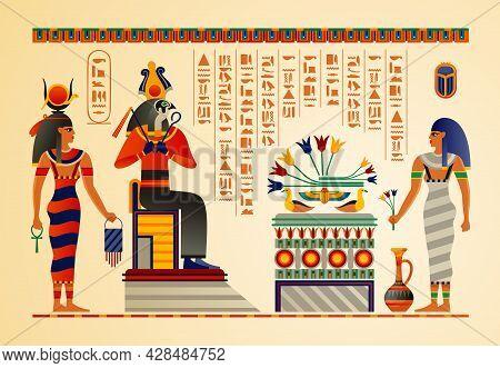 Egyptian Culture Mythology Rituals Ancient Gods Scenes Symbols Hieroglyphs Temples Vases Tombs Papyr