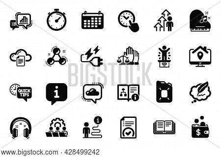 Vector Set Of Education Icons Related To Winner Podium, Piano And Canister Oil Icons. Approved Docum