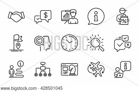 Business Icons Set. Included Icon As Restructuring, Delivery Discount, Connecting Flight Signs. Pres