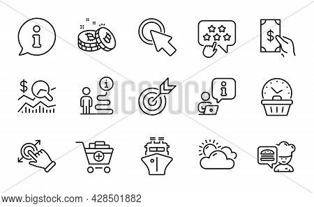 Business Icons Set. Included Icon As Add Products, Bitcoin, Chef Signs. Sunny Weather, Touchscreen G