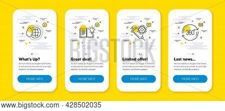 Vector Set Of World Water, Coronavirus Vaccine And Product Knowledge Line Icons Set. Ui Phone App Sc