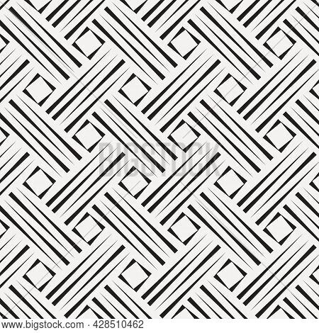 Vector Pattern Repeating Four Rows Of Checkered Plates With Square In Center, Texture Background. Pa