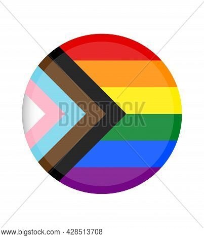 New Lgbtq And Rights Pride Flag. Update Vector Of A Lgbtq+ Color. Pride Symbol. Rainbow Color For Lg