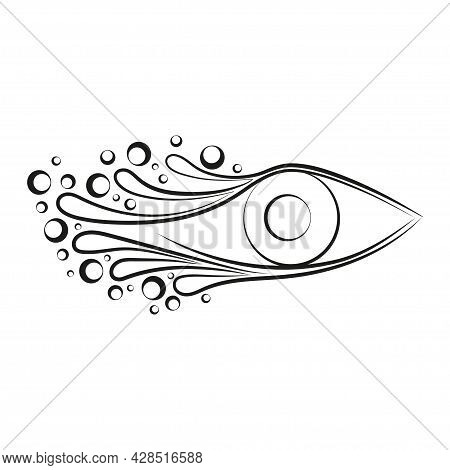 All Seeing Eye Illustration. Providence Magic Symbol In Boho Style. Astrology, Occult And Tribal, Es