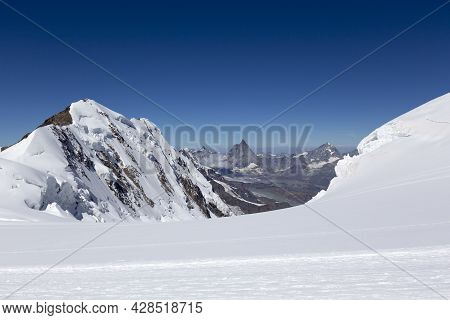 A Picture Taken While Going To The Top Of Monte Rosa, Italy