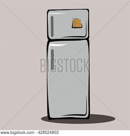 Refrigerator. Kitchen, Kitchen Utensils, Apartment Interior. Storage Organization, Minimalism. Room