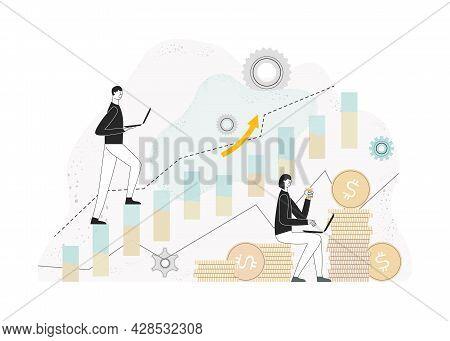 Candlestick Chart Of The Stock Market, Stock Market Index, Stockbroking Company, Stock Exchange Data