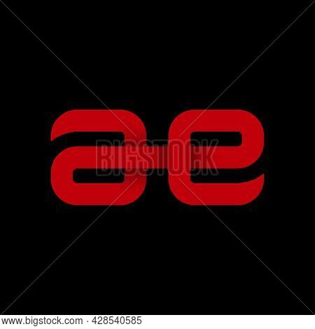 Illustration Vector Graphic Of Modern Letter Ae Logo