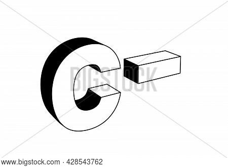 Uppercase Letter C With Minus Sign, School Grading Evaluation System, Standing Or Vertical Position