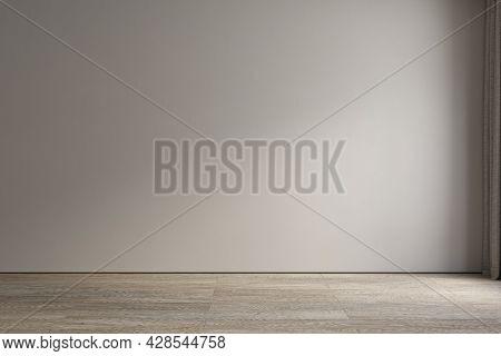 Empty Interior Blank Wall. 3d Render Illustration Mockup.