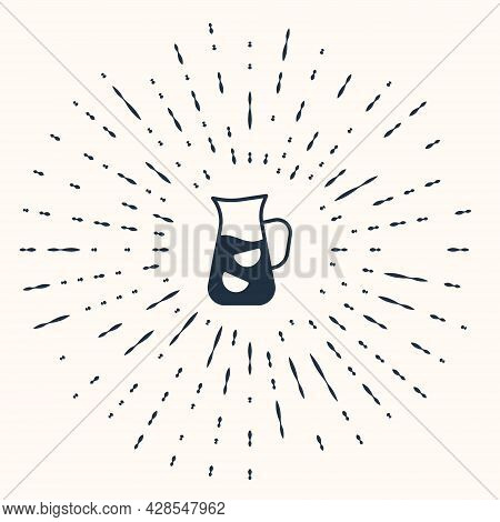 Grey Sangria Icon Isolated On Beige Background. Traditional Spanish Drink. Abstract Circle Random Do