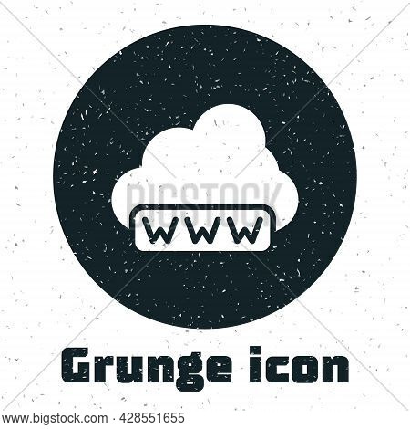 Grunge Software, Web Development, Programming Concept Icon Isolated On White Background. Programming
