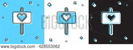 Set Peace Icon Isolated On Blue And White, Black Background. Hippie Symbol Of Peace. Vector