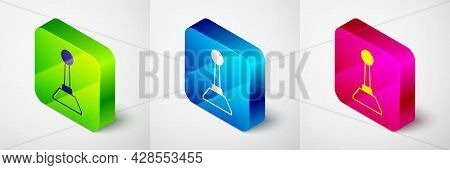 Isometric Milling Cutter For Manicure Icon Isolated On Grey Background. Apparatus For Manicure. Mani
