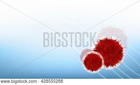 Hiv Bacterial Microorganism Copy Space Vector. Microscope Unhealthy Danger Viral Bacterial Organism