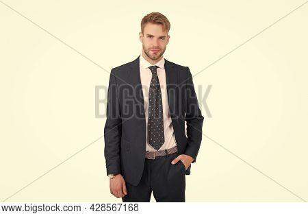 Truly Inspirational. Boss Or Ceo Isolated On White. Project Manager. Handsome Man In Formalwear. Bus