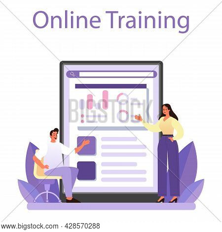 Staff Counselling Online Service Or Platform. Personnel Manager Providing