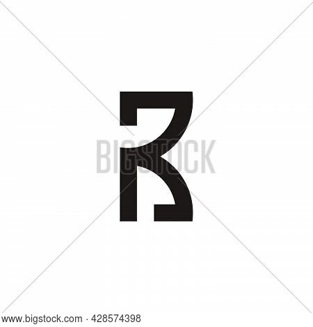 Abstract Letter Pr Simple Linked Geometric Logo Vector