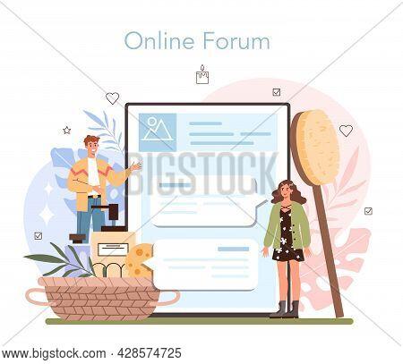 Masseur Online Service Or Platform. Spa Procedure In Beauty Salon