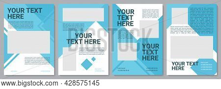 Company Brochure Template. Promo Strategy. Flyer, Booklet, Leaflet Print, Cover Design With Copy Spa