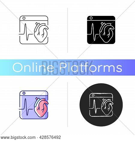 Medical Platforms Icon. Sharing Medical Data Worldwide. Access Healthcare Services. Remote Patient M