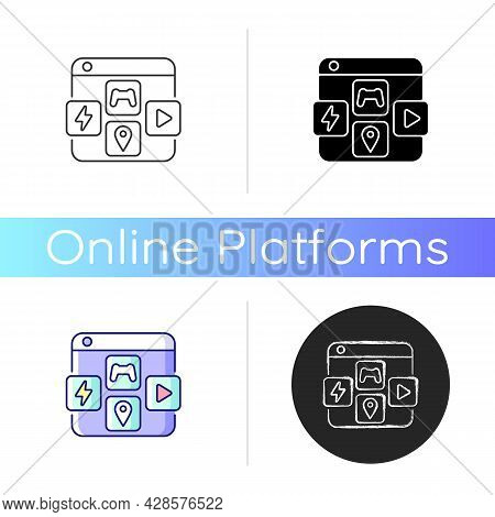 App Distribution Platforms Icon. Providing Applications For Mobile Devices. Promoting App Usage. Dis