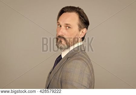 Company Employer And Employee. Business Man. Recruitment And Employment. Manifesting Gray Hair. Empl