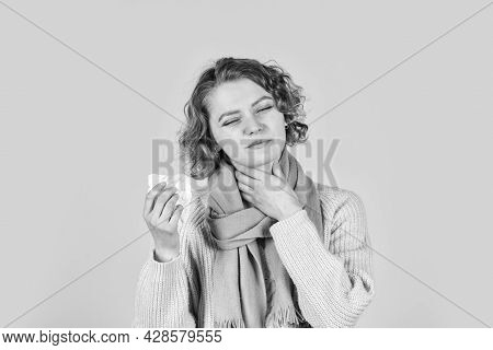 Feel So Sick. Concept Of Treating Allergies Or Colds. Runny Nose. Woman With Allergy Blowing Nose. C