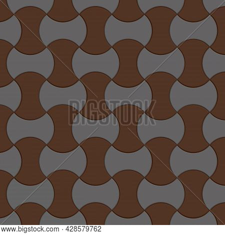 Background With Brown And Light Colored Paving Stones. Vector Illustration
