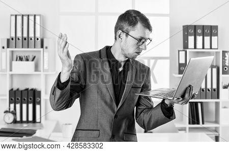 Hard Working. Agile Business. Businessman Making Notes. Man Wear Office Suit. Male Realtor Has Hard