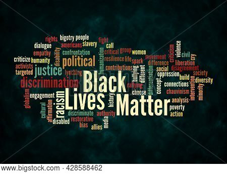 Word Cloud With Black Lives Matter Concept Create With Text Only.