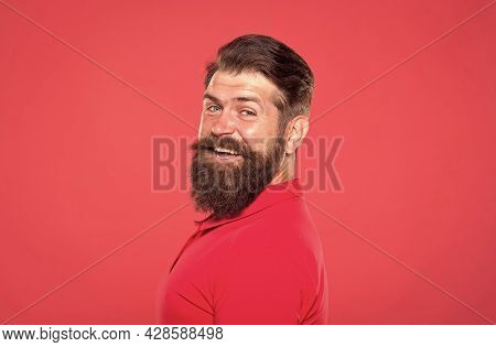 Barbershop Model. Confident In His Attractiveness. Bearded And Cool. Hipster Appearance. Beard Fashi