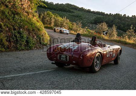 Sant'anatolia Di Narco, Umbria,  Italy, 1954 Ferrari 340 A Attends The Mille Miglia Historic Race On