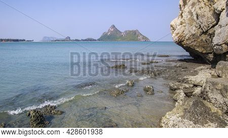 Horizon Scenic Calm Sea View Blue Water In Ocean With Blue Sky In Daytime Landscape Travel Vacation