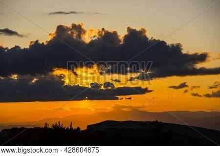 Spring Sunset In Montsec, Lleida, Spain