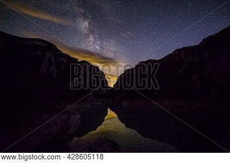 Milky Way In Congost De Montrebei, Lleida, Spain