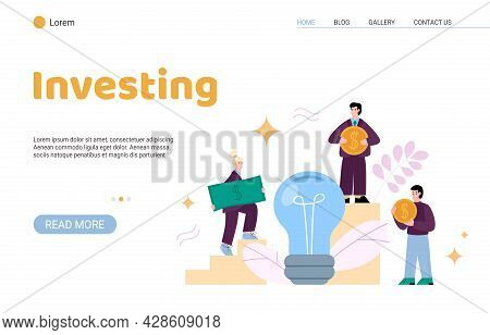 Landing Page Template For Crowdfunding To Business Ideas, Projects Or Startups