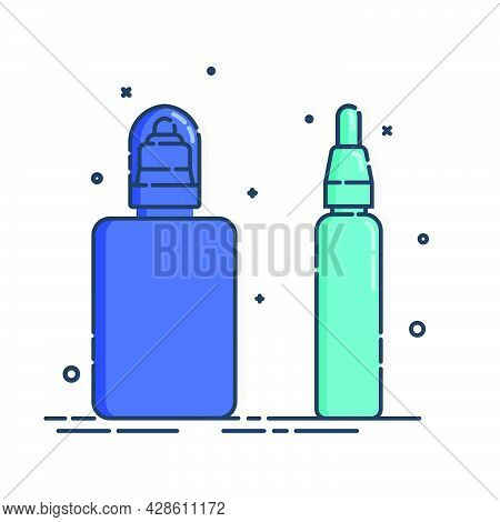 Cosmetic Container. Body Care Hygiene. Blank Package Bottle. Two Plastic Makeup Jar Product. Color B