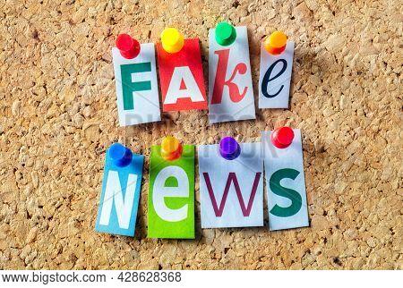 Fake news concept for false event news