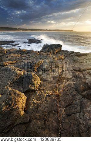 Light On Rocks On The Coast At Bendalong On Nsw South Coast