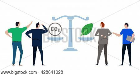 Carbon Trading Offset Compensation Balancing Of Co2 Gas Emission Pollution With Reforestation Neutra