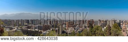View Of The Skyline Of Santiago, Chile