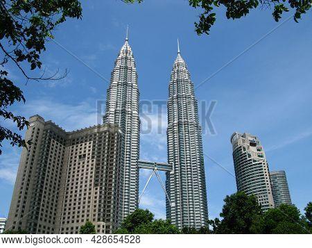 Kuala Lumpur, Malaysia - 14 Jan 2010: Petronas Twin Towers In Kuala Lumpur, Malaysia