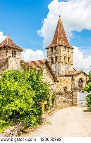 View At The Church Of Saint Pierre In Carennac - France
